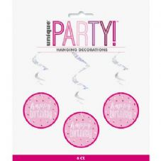 Pink Glitz Hanging Decoration